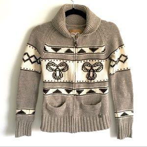 ARITZIA Sea To Sky Cardigan Sweater Brown S